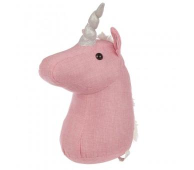 Roze Eenhoorn Hoofd Deurstopper