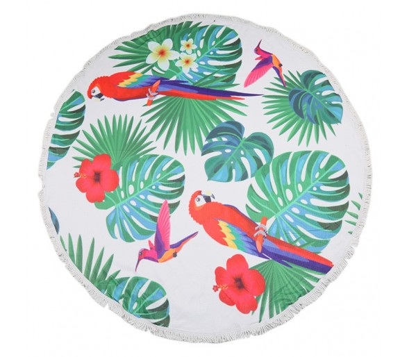 BEACH TOWEL PARROT JUNGLE