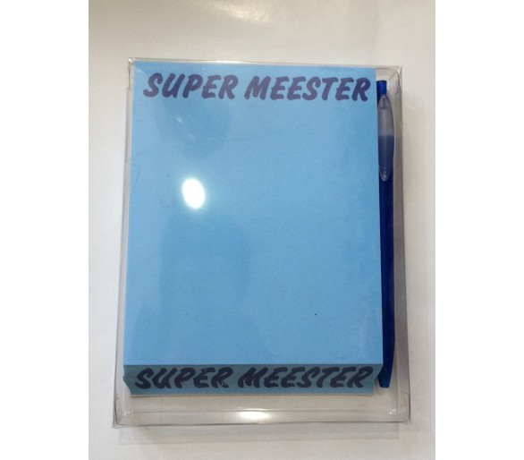 Blocknote super meester