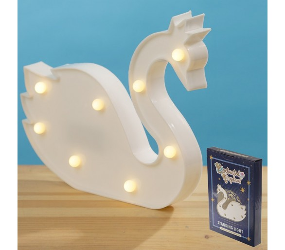 Witte zwaan led licht