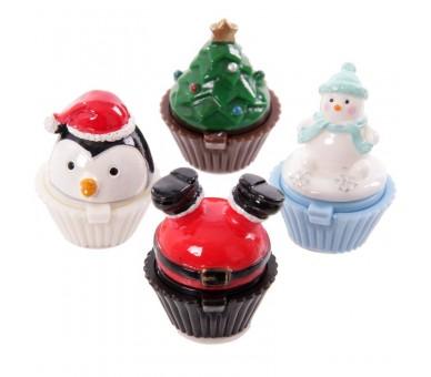 Kerstmis Lippenbalsem - Kerstboom, Sneeuwpop, Kerstman, Pinguïn