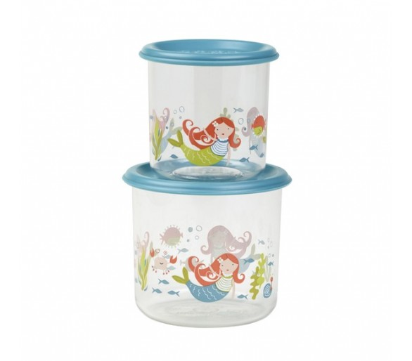 Good Lunch® snack containers large (set of 2) Isla the Mermaid™