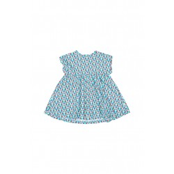 DRESS SHORT SLEEVES LIGHT AQUA