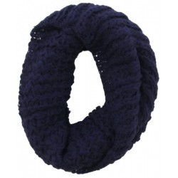 Knitted Loop-Col Scarf Blue