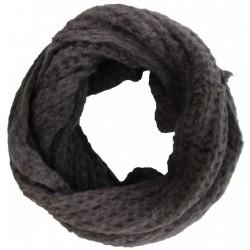 Knitted Loop-Col Scarf Grey