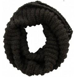 Knitted Loop-Col Scarf Dark Grey