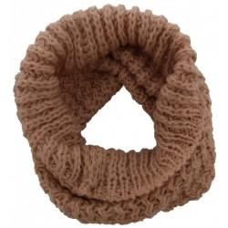 Knitted Loop-Col Scarf Old Pink