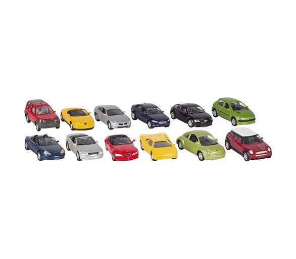 Metalen auto: POWER SET III 1:60 L7,5cm, diverse m