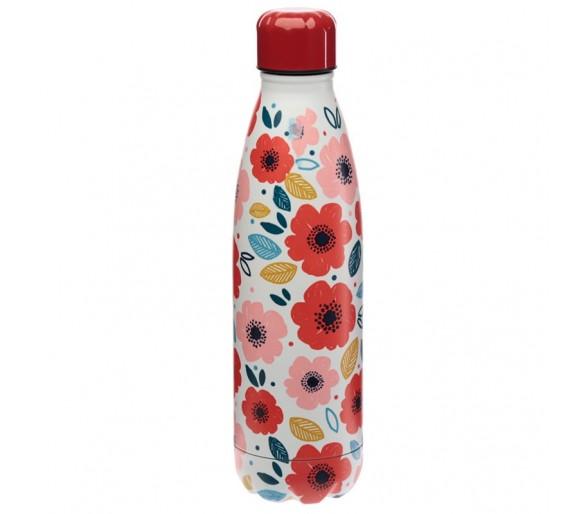 Klaprozen rvs fles 500ml
