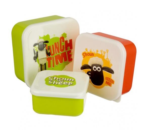 Set 3 Lunchtrommels - Shaun het Schaap