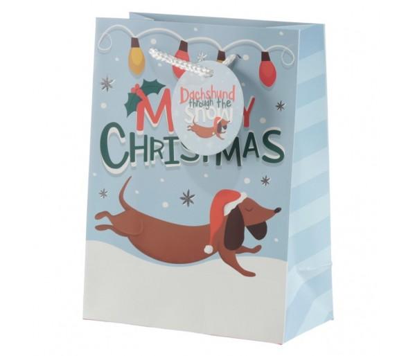 Kerstmis Tekkel Cadeautas - Medium