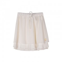 SKIRT-COTTON LACE VOILE ECRU