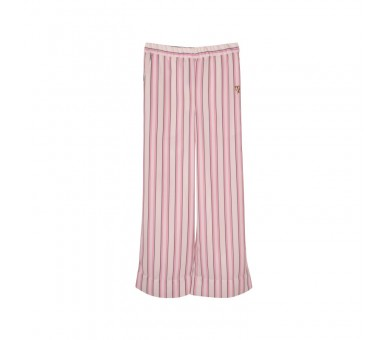 TROUSERS-POLYSTRIPE ROOS WIT