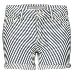 Short bias stripes navywhite