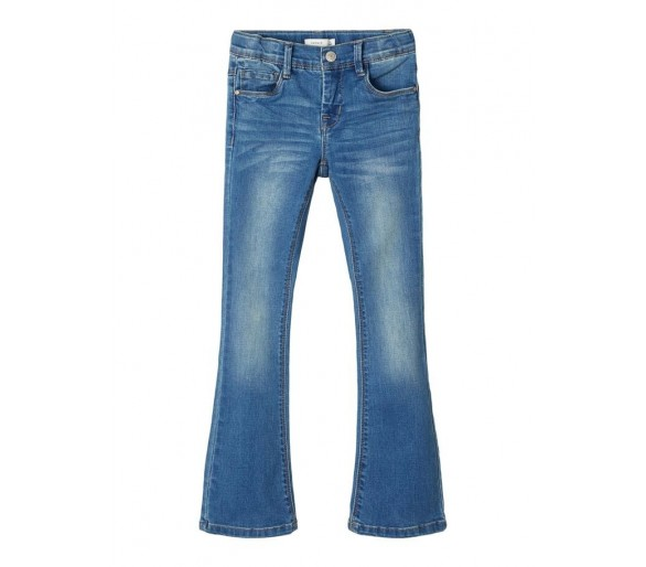 NAME IT : STRETCHY BOOTCUT JEANS