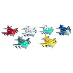 Metalen vliegtuin met geluid 9 cm