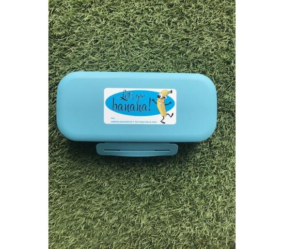 Opbergdoosje voor mondmasker ocian blue