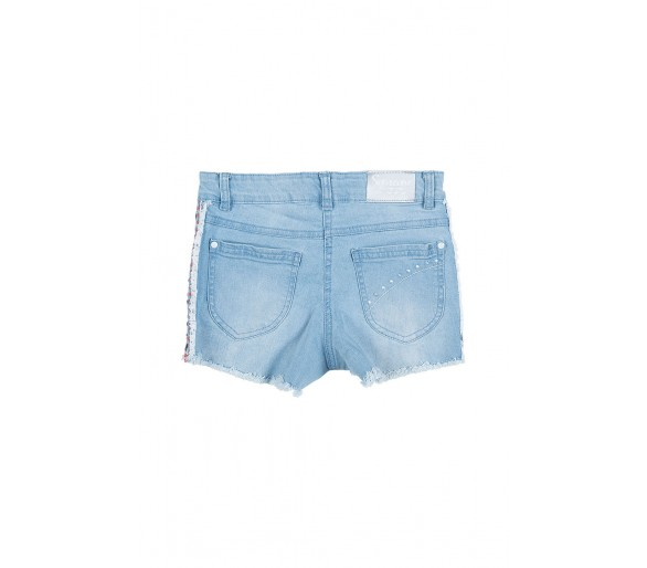 DENIM SHORT TROUSERS DENIM LIGHT BLUE