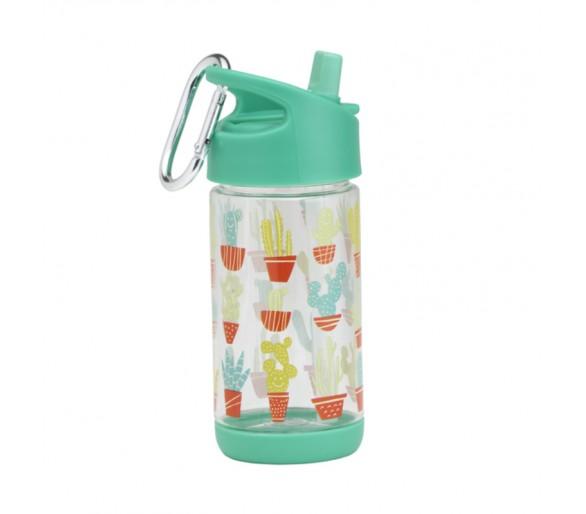 Flip & Sip clear Tritan drinkfles -Happy Cactus