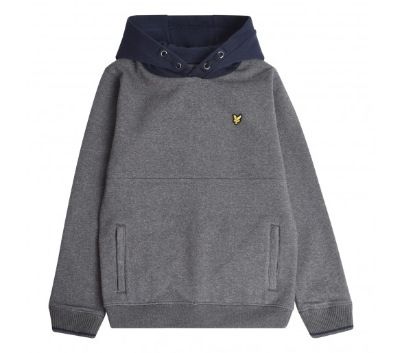 LYLE & SCOTT : CONTRAST BB OTH HOODIE CHARCOAL GRE