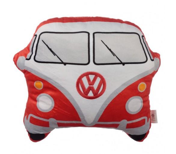 Pluche Volkswagen Kampeerbus VW T1 Rood Sierkussen