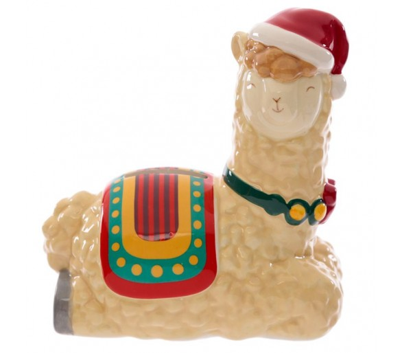 Kerstmis Lama Keramiek Spaarpot
