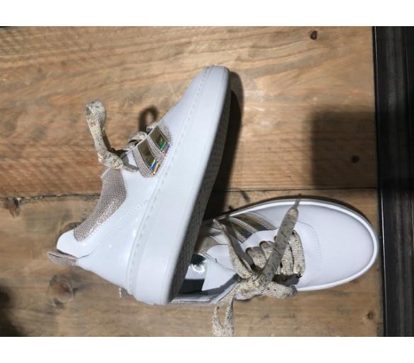 Toffe witte/gouden sneaker