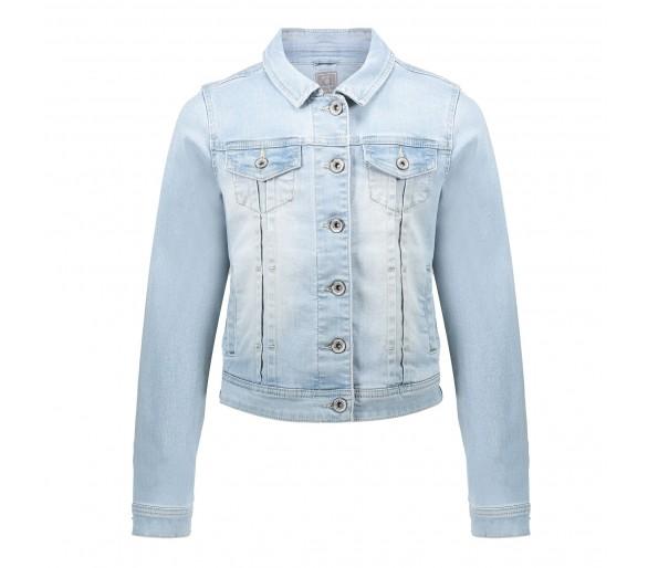 GEISHA : Jeansjacket bleached denim