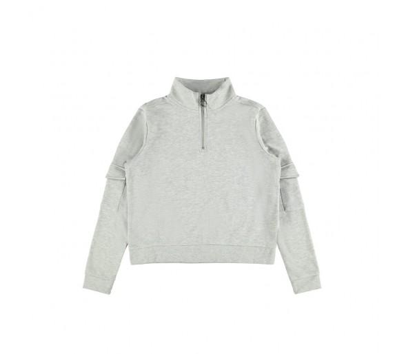 LMTD : Sweater met rit kort