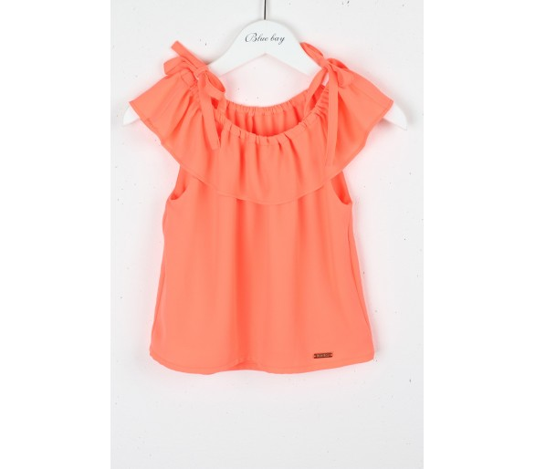 BLUE BAY : Fluo coral top