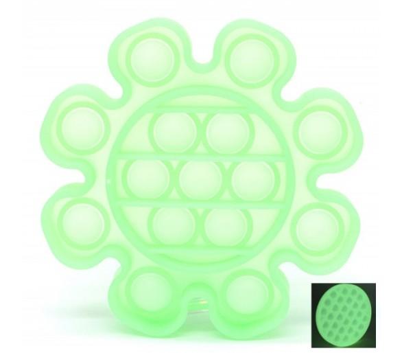 Pop it Flower - Glow in the Dark - Green