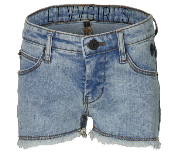 LEVV : Jeans shortje uitgerafeld onderaan