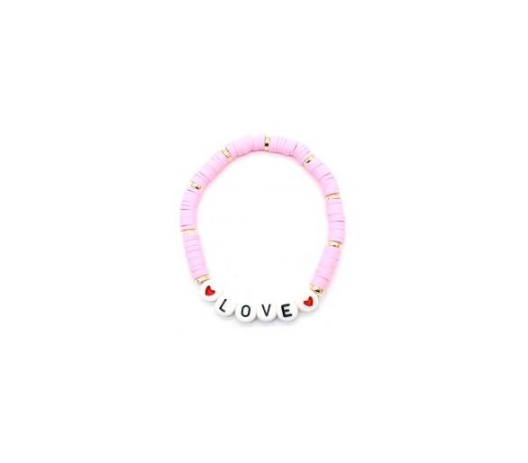 Elastic Bracelet LOVE Pink
