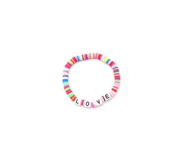 Elastic Bracelet LOVE Multi