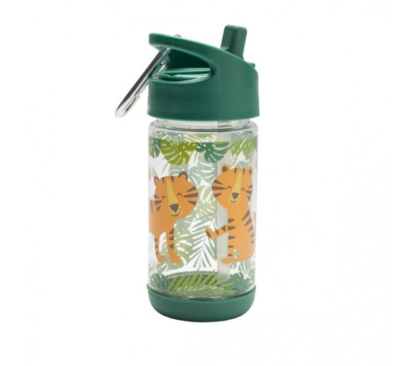 Flip & Sip clear Tritan drinking bottle Tiger