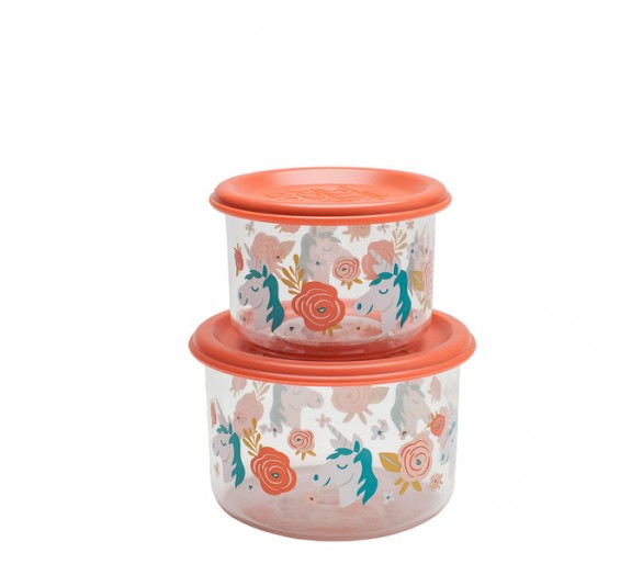 Good Lunch® snack containers (set of 2) Unicorn