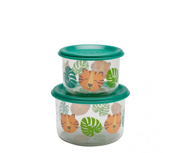 Good Lunch® snack containers (set of 2) Tiger
