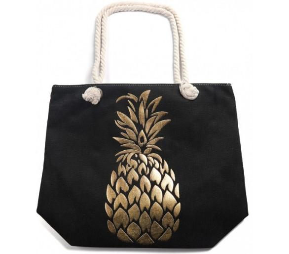Beach Bag Shiny Pineapple