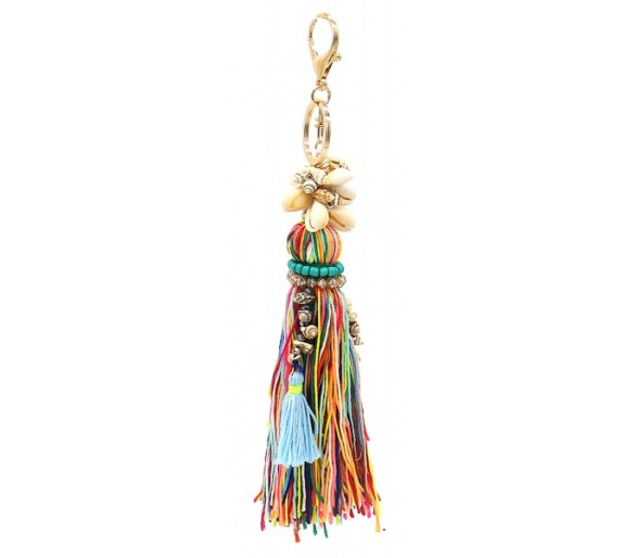 Keychain Tassel and Shell