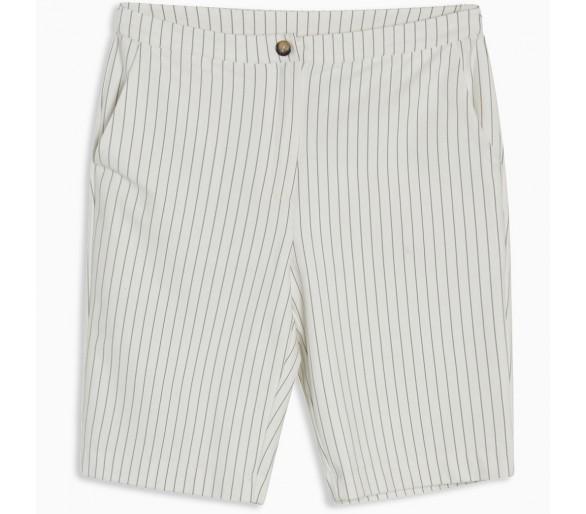 GRUNT : Henna Bermuda Shorts White Stripe
