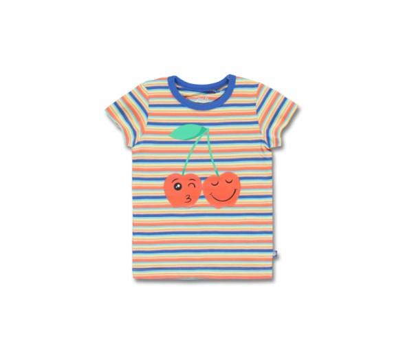 LEMON BERET : T-shirtje met streepjes en kersjes