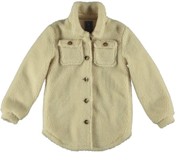 GEISHA : Teddy coat button closure offwhite
